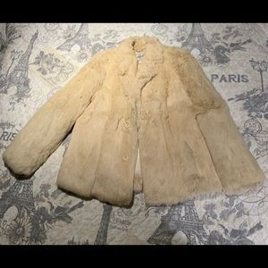 Jackets & Blazers - Genuine Rabbit Fur Coat